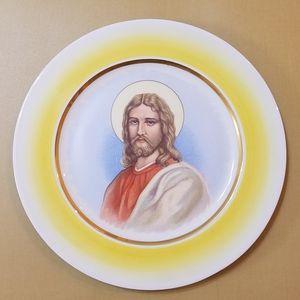 Brighton China Plate w/Jesus, Vintage